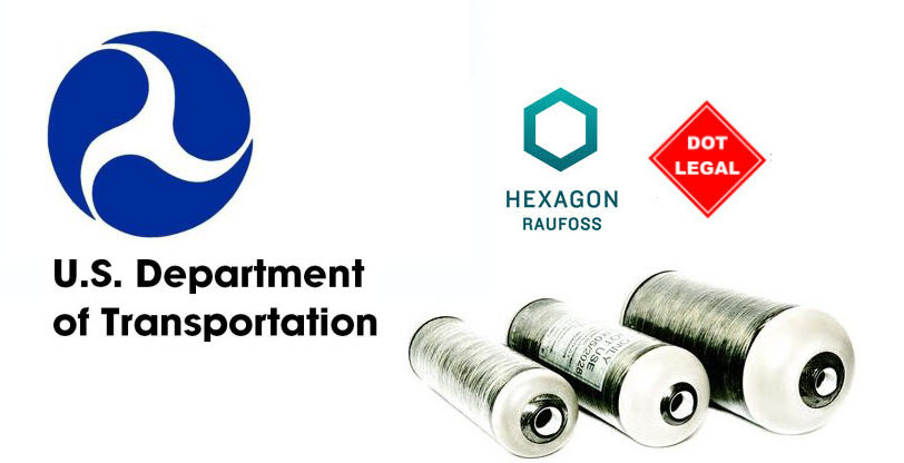 Hexagon Receives Special DOT Permit for Hydrogen Tanks