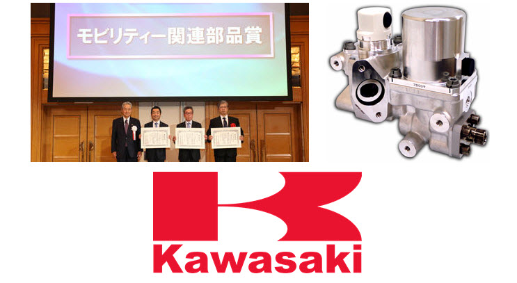 Kawasaki High Pressure Hydrogen Reducing Valve for Fuel Cell Cars Accepting Award