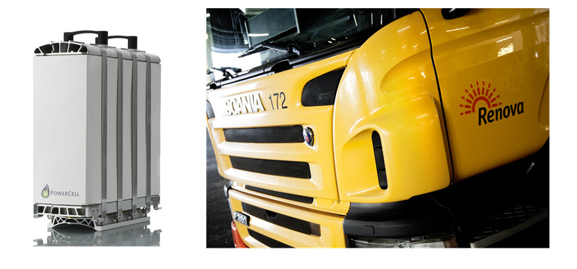PowerCell Fuel Cell to Power Renova Scania Hydrogen Fuel Cell Truck2