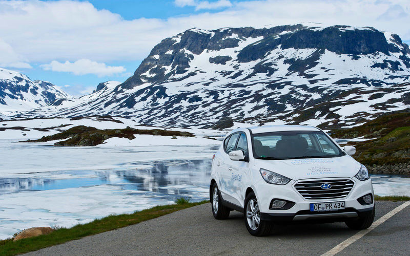 Hyundai fuel cell Car