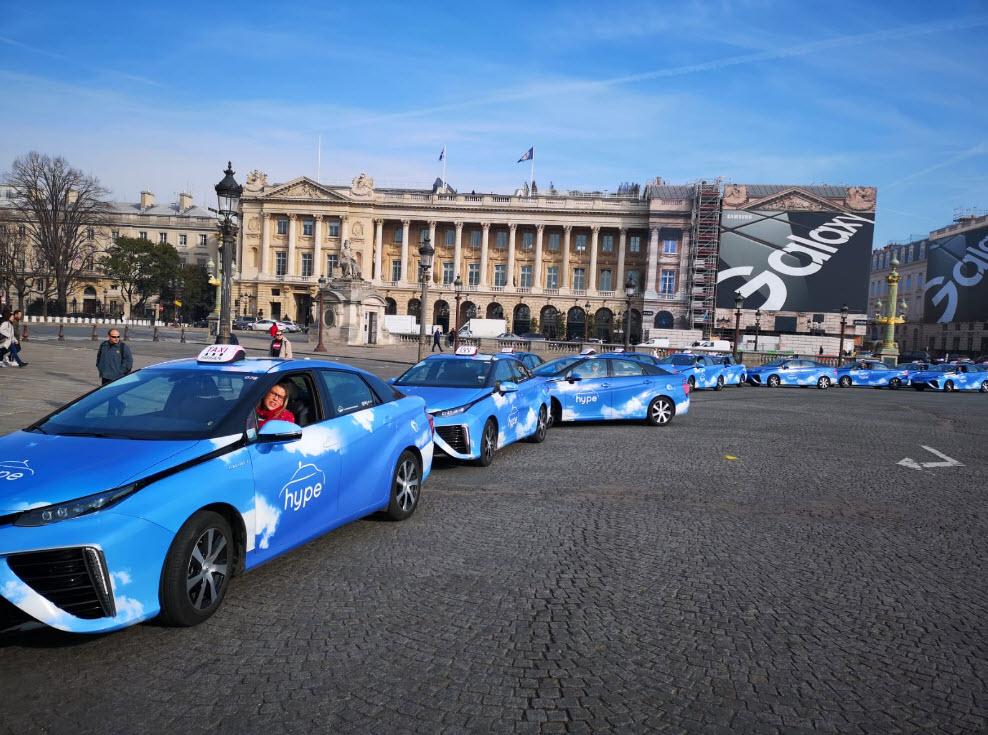 Hydrogen Taxis in Paris