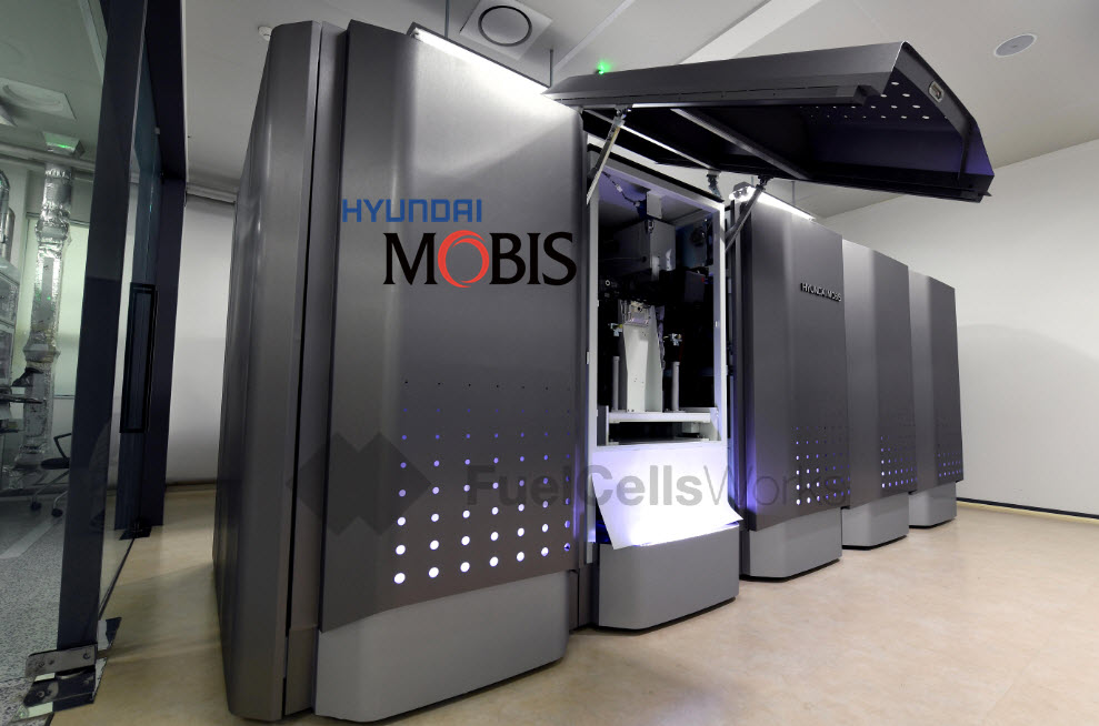 Hyundai Mobis Debuts its Hydrogen Fuel Cell Power Generation System