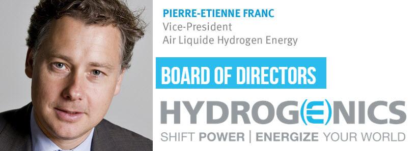 Pierre Etienne Franc Joins Board of Directors Hydrogenics