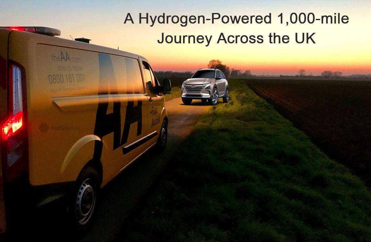 AA Assits in Hydrogen Journey Across UK