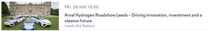 Arval Hydrogen Roadshow Leeds