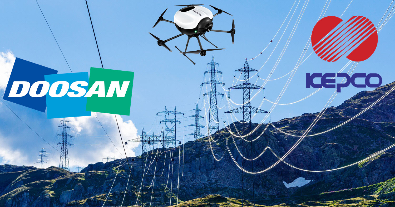 KEPCO DOOSAN Drone Inspection of Transmission Lines