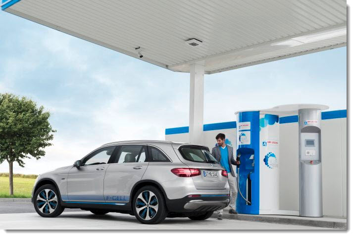Mercedes Benz GLC F CELL Fuelling with Hydrogen