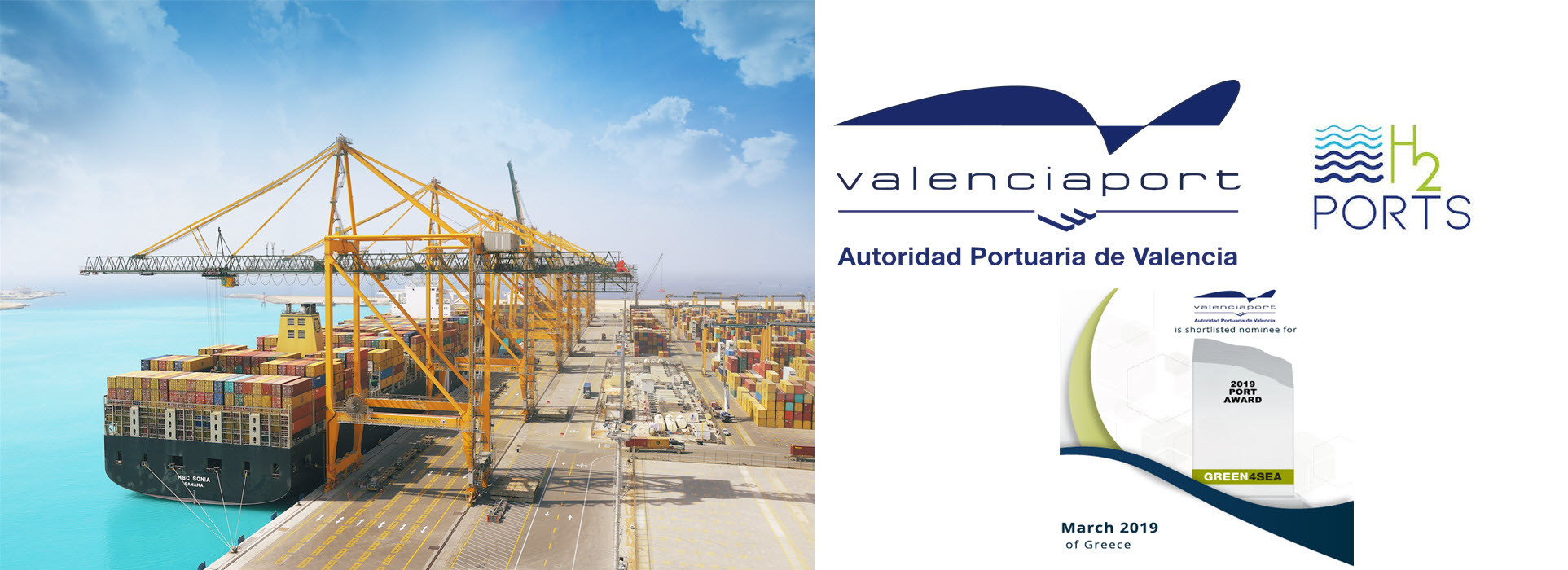 Port of Valencia 2019 Port Award for use of hydrogen