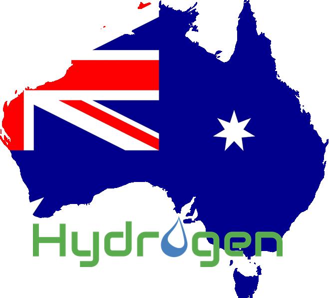 Australia Flag and Hydrogen
