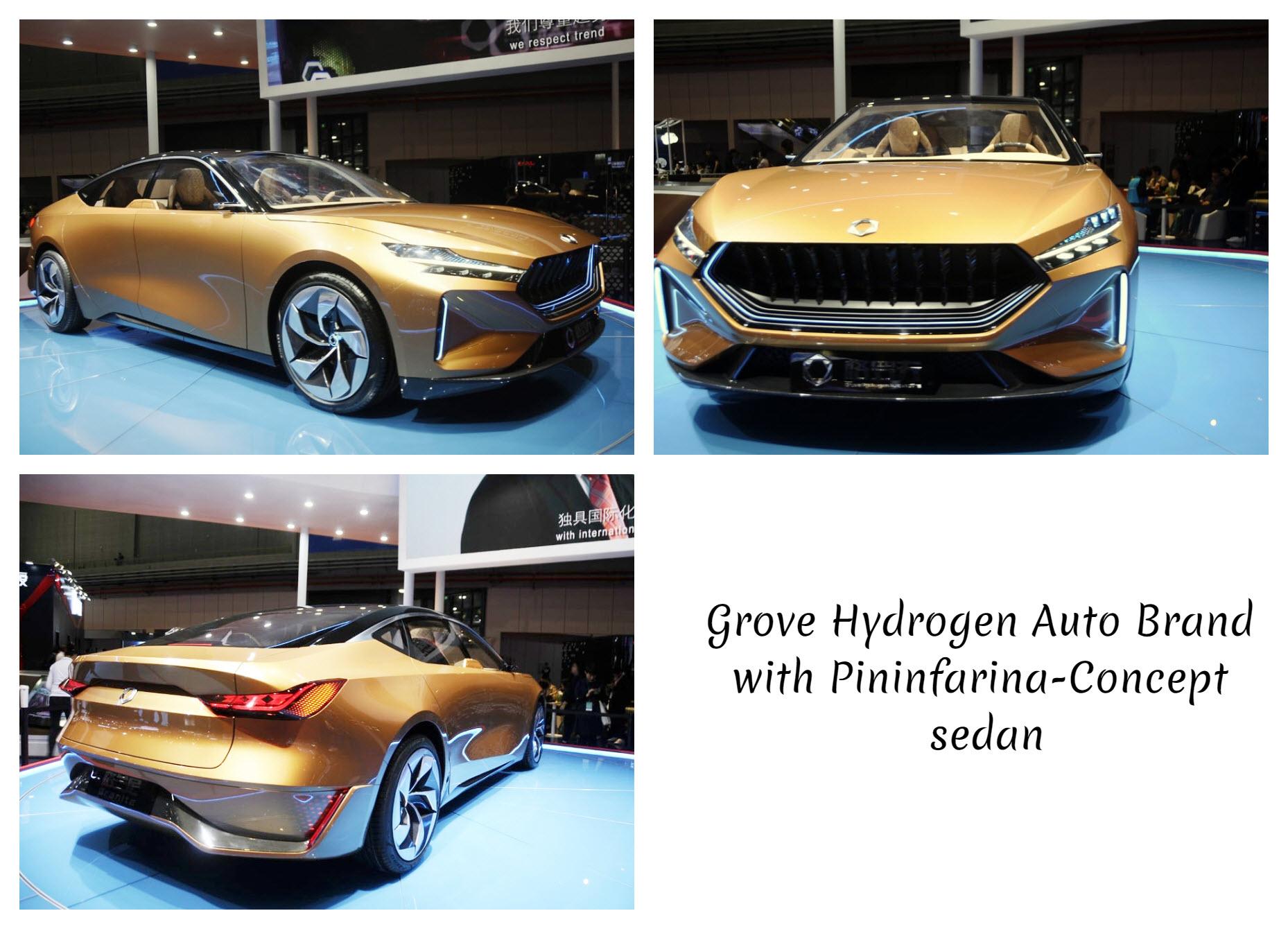Grove Hydrogen Auto Brand with Pininfarina Concept sedan