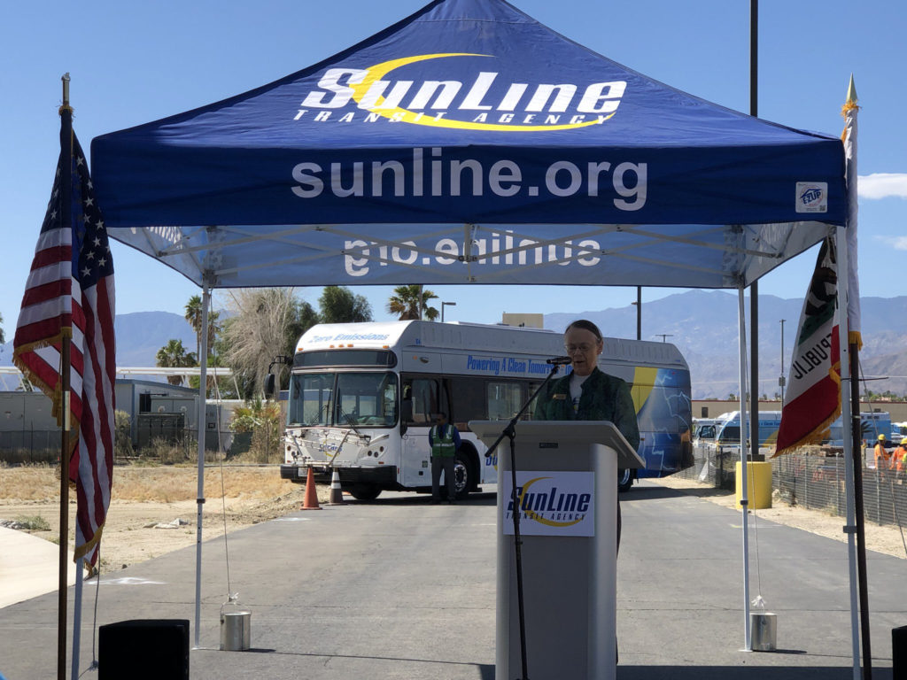 Sunline Transit Celebrates Earth Day with Unveiling of 5 New Fuel Cell Buses