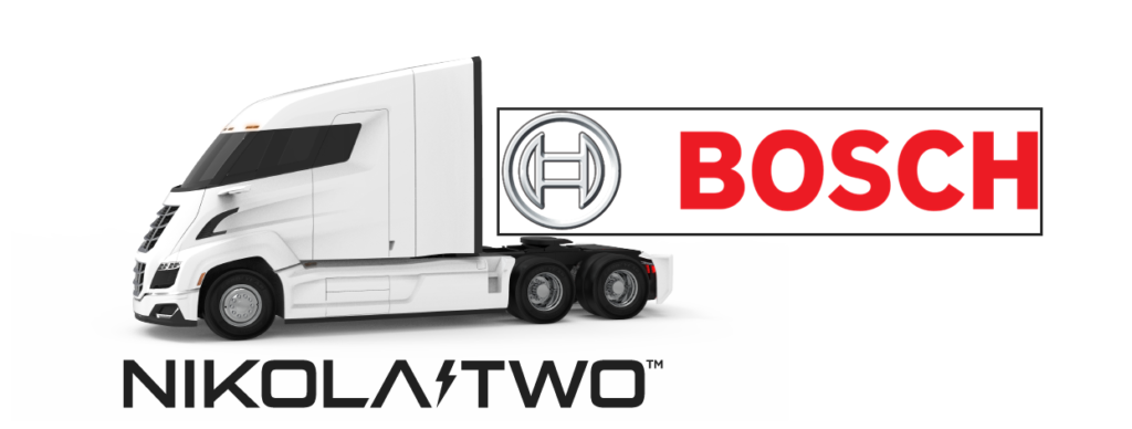 Nikola and Bosch Develop Fuel Cell Powertrain for the Nikola Two Truck