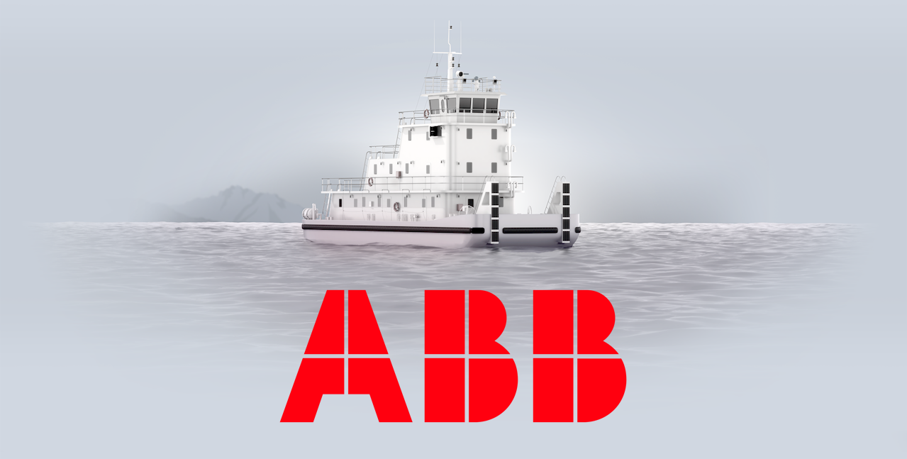 Concept illustration of a fuel cell powered push boat. by ABB