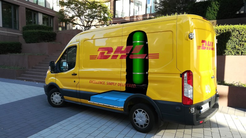 fuelcell panelvan DHL