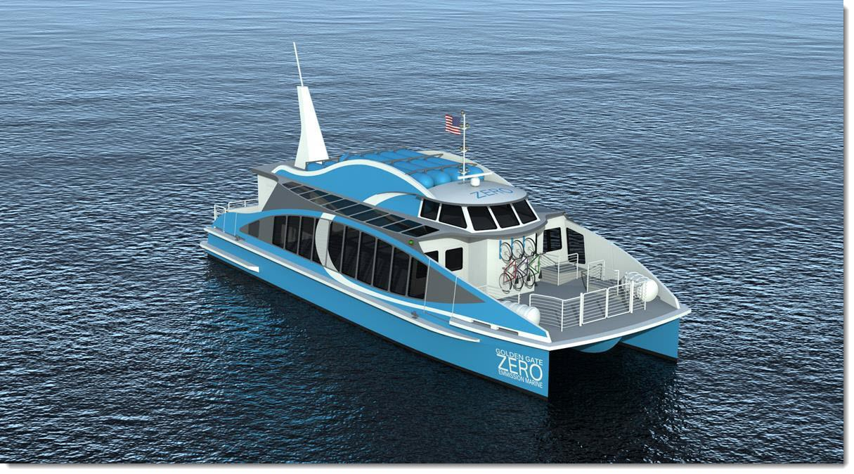 Photo courtesy Golden Gate Zero Emission Marine Golden Gate Zero Emission Marine's Water-Go-Road vessel pictured here will use hydrogen fuel cell technology validated at Sandia National Laboratories that eliminates emissions and is better for the environment. This success won a national Excellence in Technology Transfer Award