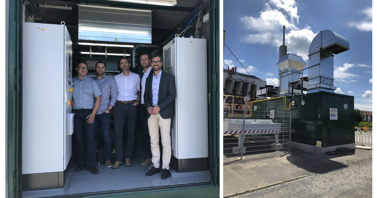 Hassfurt Successfully Puts Hydrogen CoGeneration Plant into Operation Main