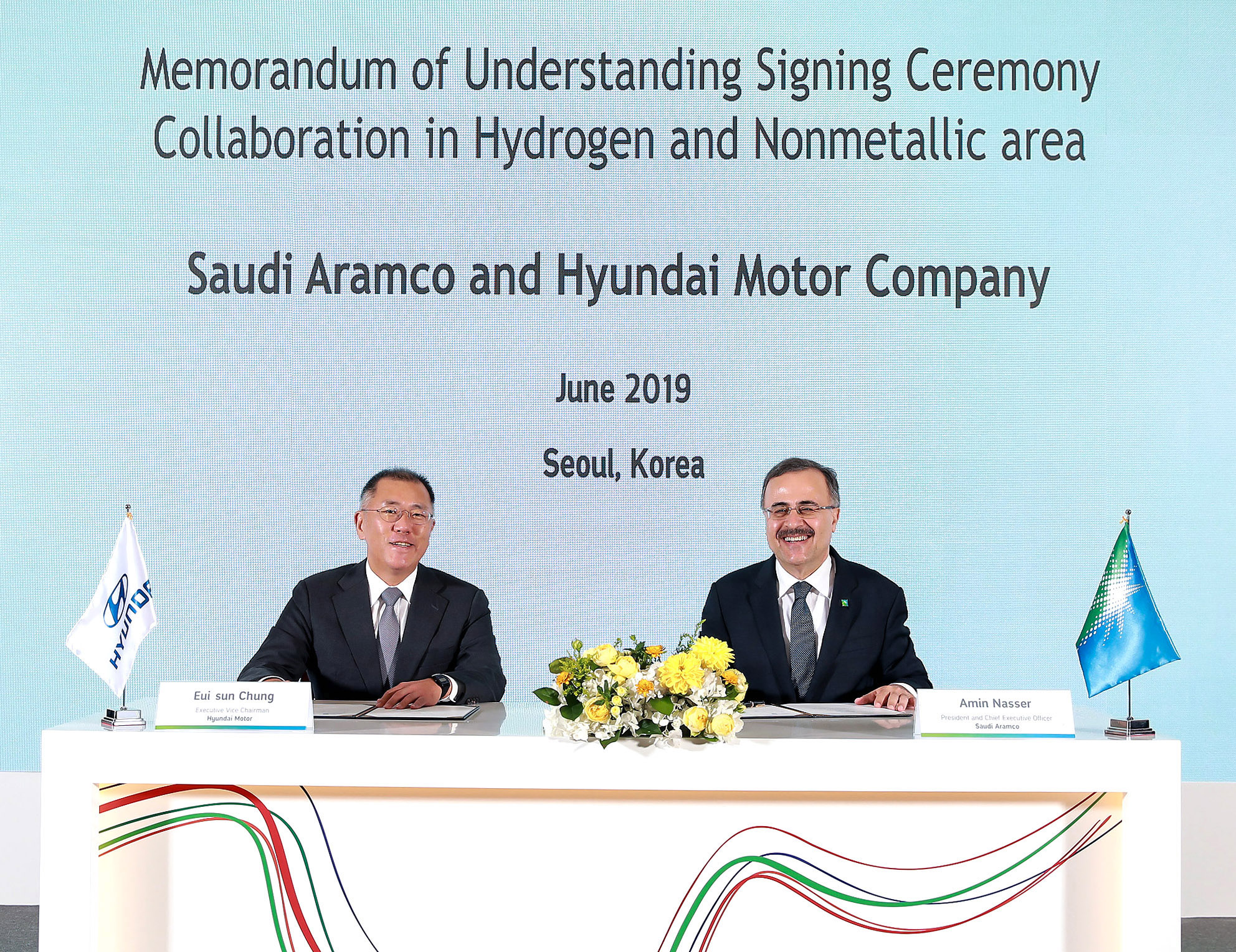 Hyundai and Aramco Sign MOU