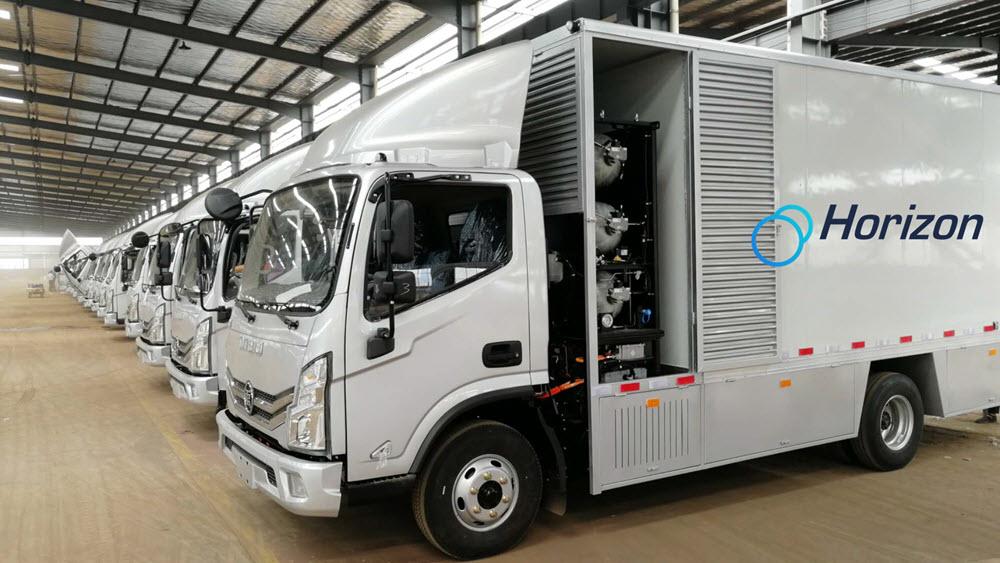 50 trucks powered by horizon