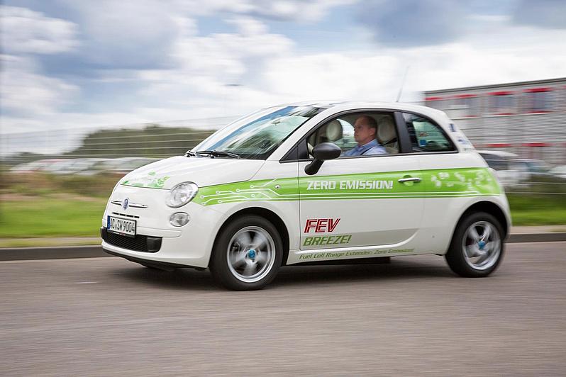 FEV Fiat Breeze Hydrogen Fuel Cell Extender Inside