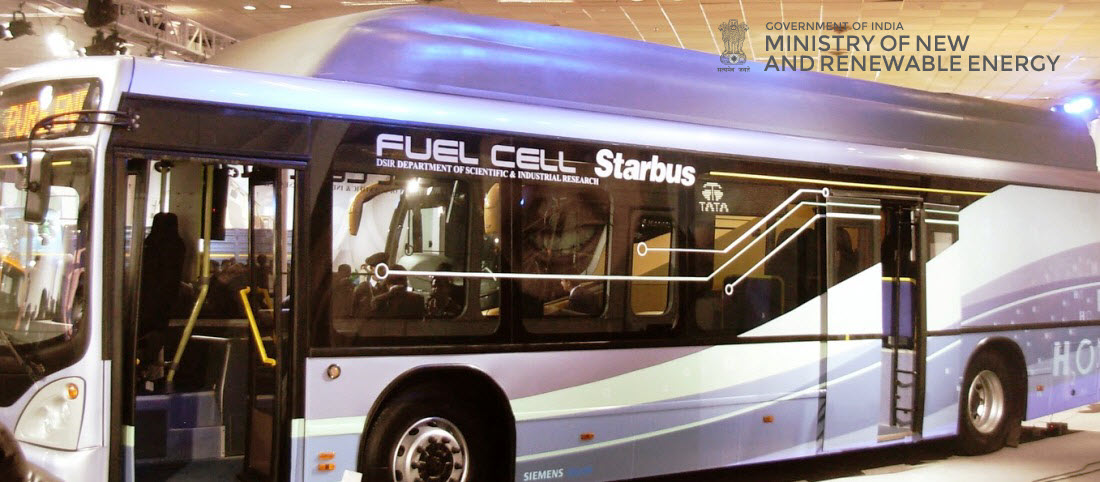 Fuel cell bus from Tata