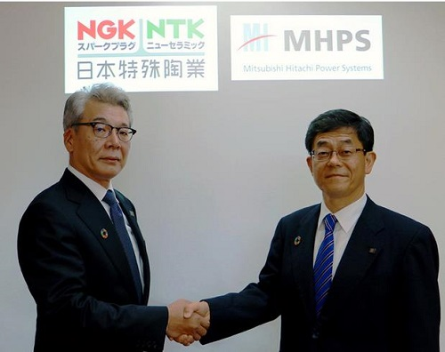 NGK SPARK PLUG and Mitsubishi Hitachi Power Systems Conclude Fuel Cell Agreement
