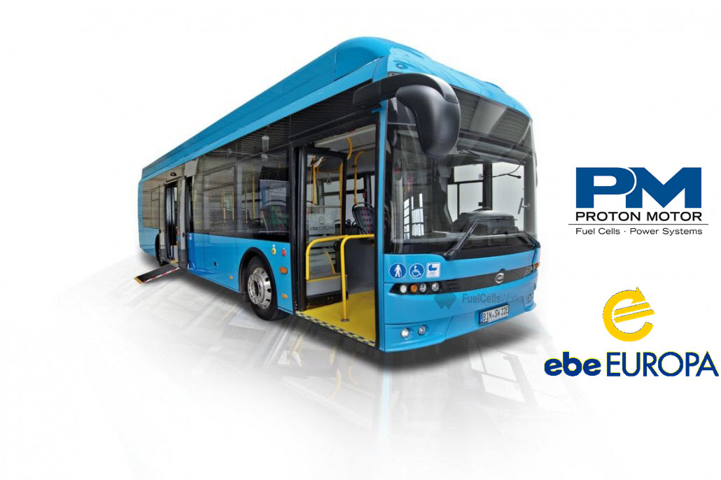 ebe Europa Blue City Bus Fuel Cell by Proton Motor