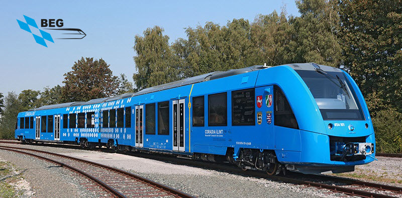 iLint Hydrogen Train by Alstom used by BEG