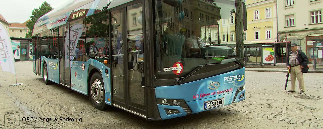 Hydrogen Bus Presented to the public in Klagenfurt