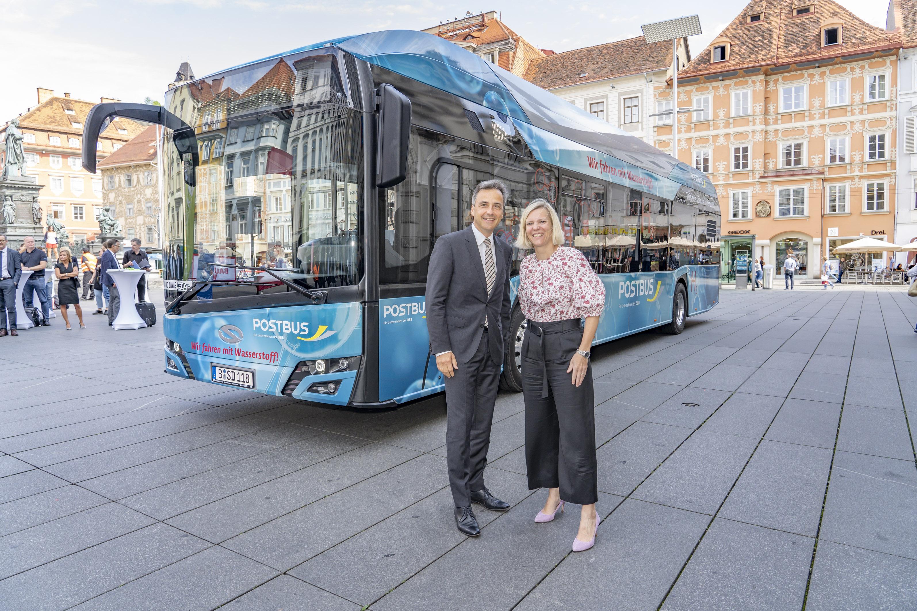 Hydrogen Bus in Graz Main
