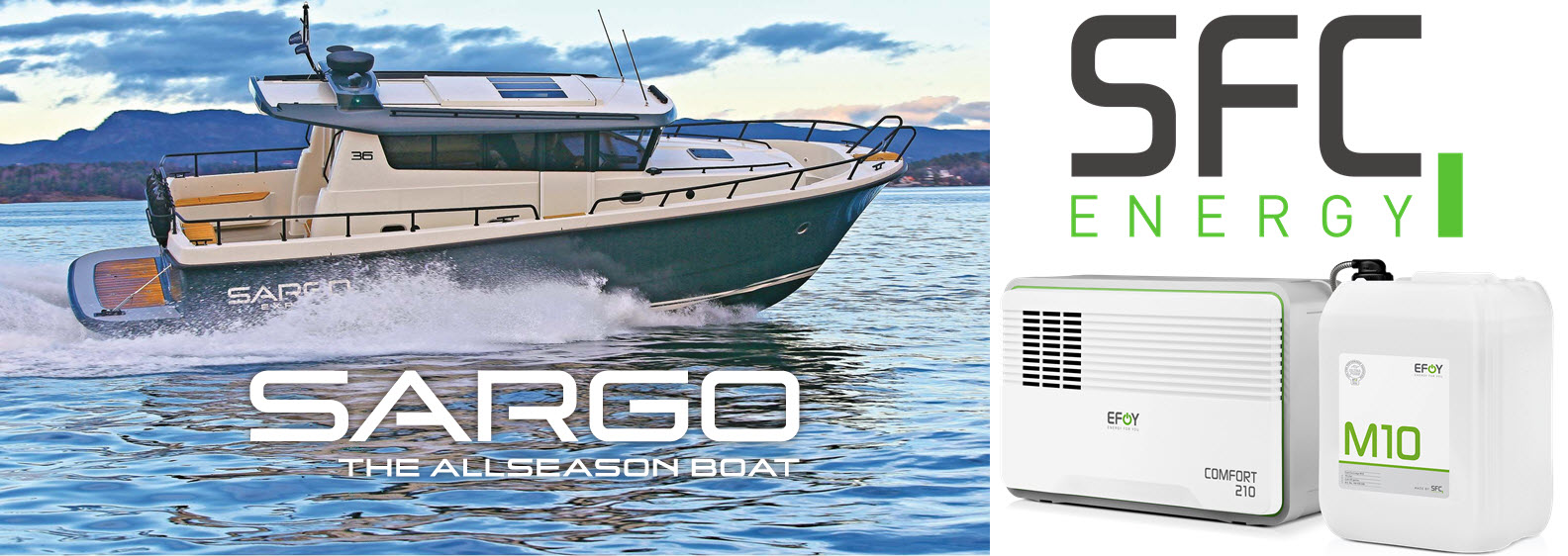 Sargo Boats with SFC Fuel Cells
