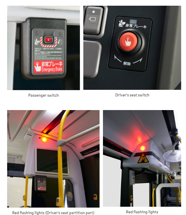 Toyota Safety Features in Fuel Cell Bus2