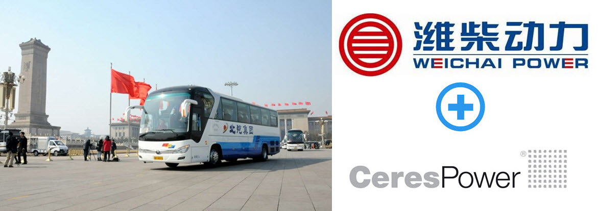 Ceres Weichai Power Fuel Cell Extender Bus for China