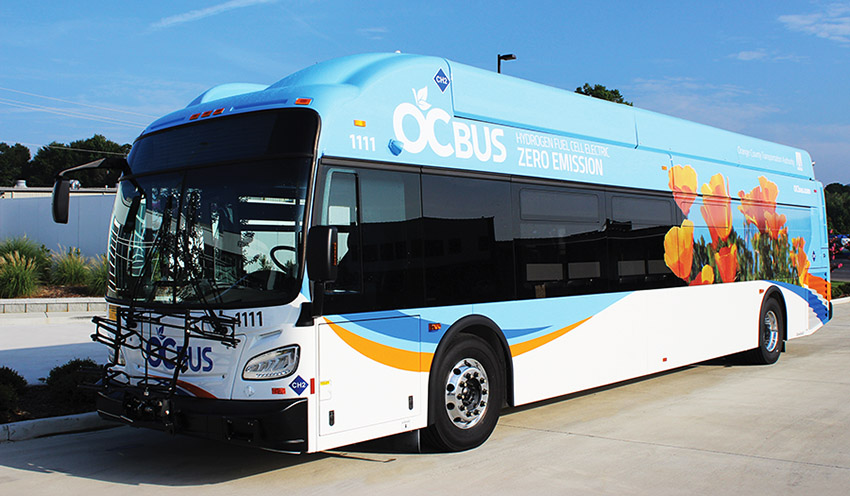 Orange County Transportation Authority fuel cell electric bus