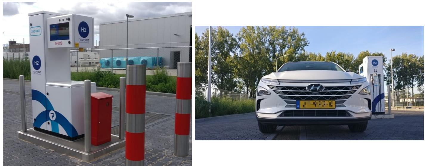 Pitpoint Hydrogen Station in Arnhem Main