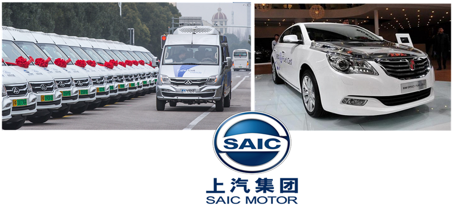 SAIC Group Fuel Cell Milestones