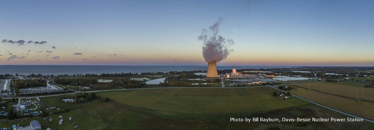 The Davis Besse Nuclear Power Station near Toledo Ohio