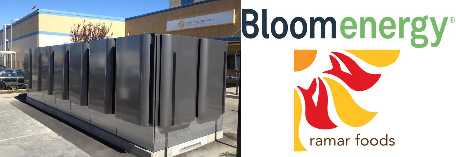ramar foods Bloom Energy Fuel Cell Servers