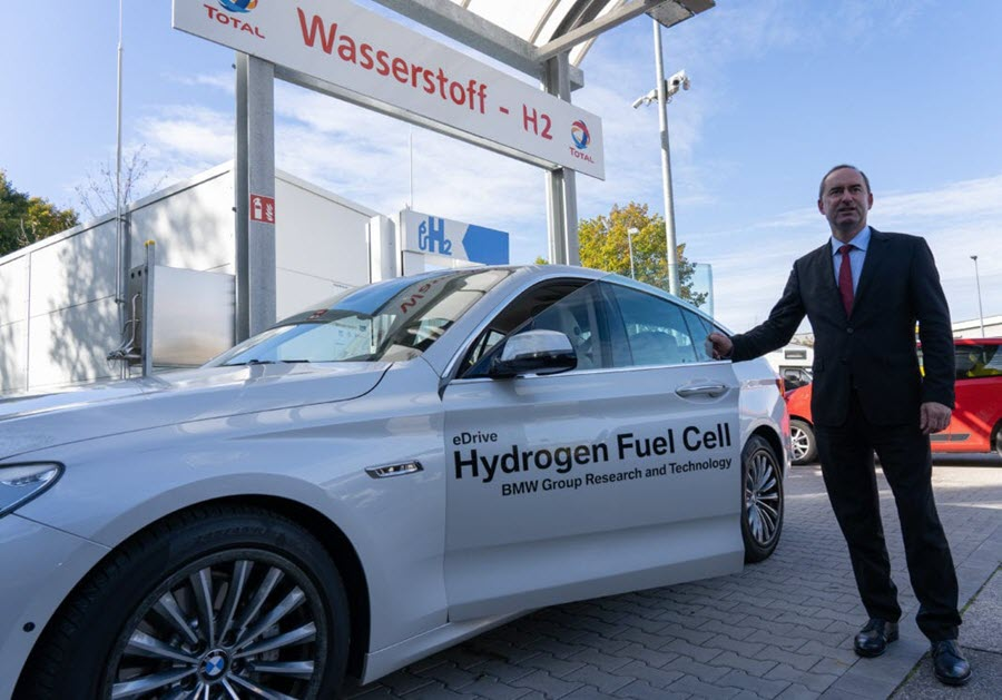 Aiwanger Drives Fuel Cell BMW