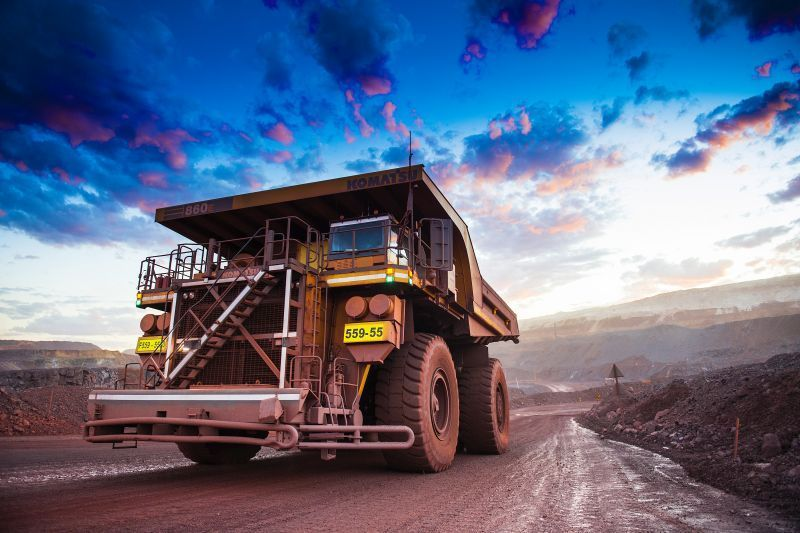 Anglo American Mining Truck
