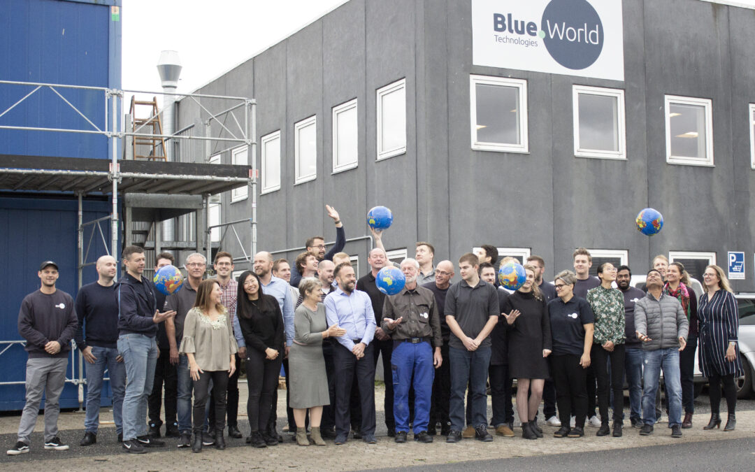 Blue World Technologies Founders and team in October 2019 Main