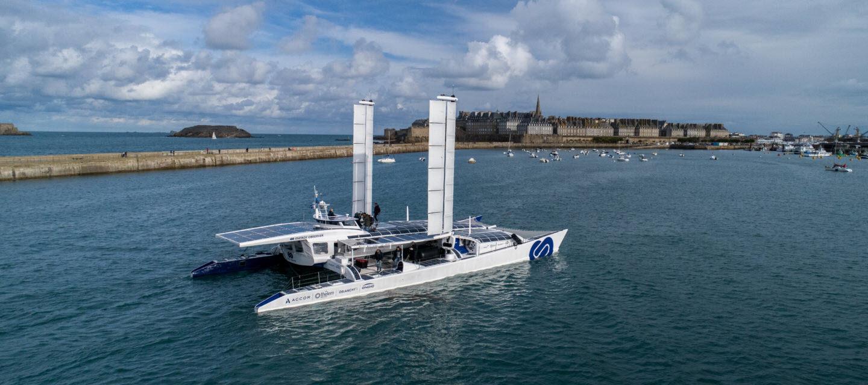Energy Observer Back at St. Malo