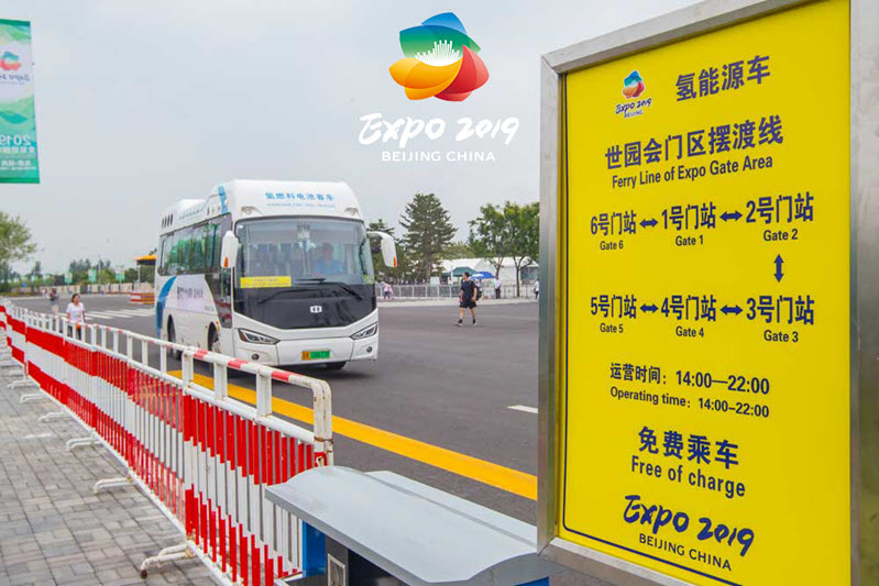 Hydrogen Buses at World Horiculture Expo 2019 Main
