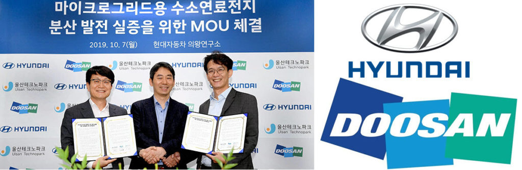 Hyundai Motor and Doosan Fuel Cell Sign MOU for the Demonstration of Hydrogen Fuel Cell Distributed Power Generation System