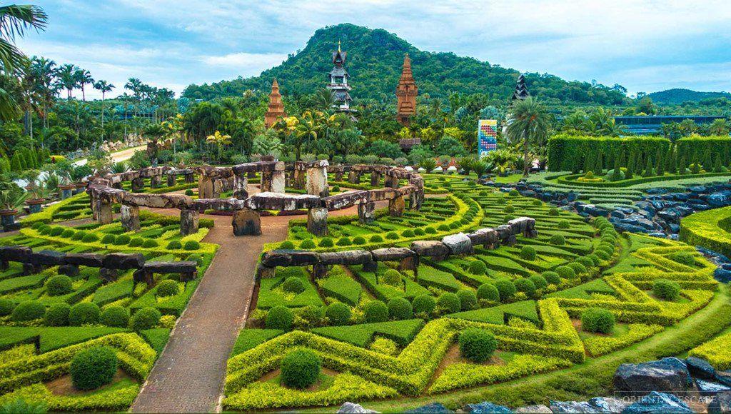 Nongnooch Tropical Botanical Garden in Thailand