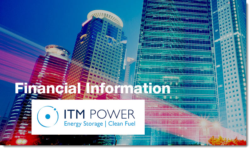 financial information ITM Power