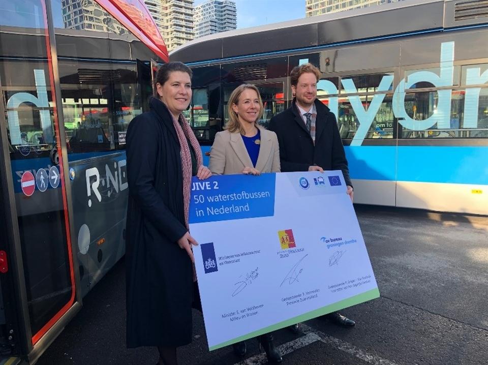 OV Hydrogen Buses Netherlands Ceremony