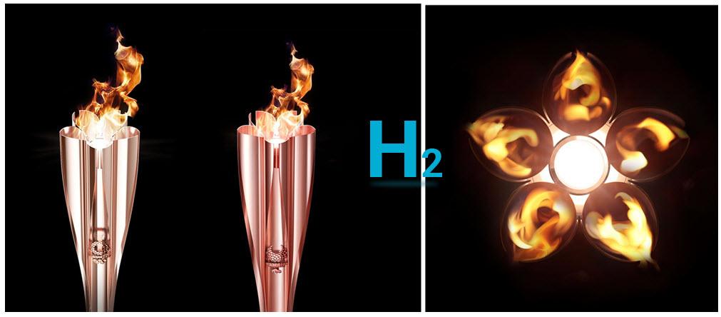 Hydrogen Olympic 2020 Torch