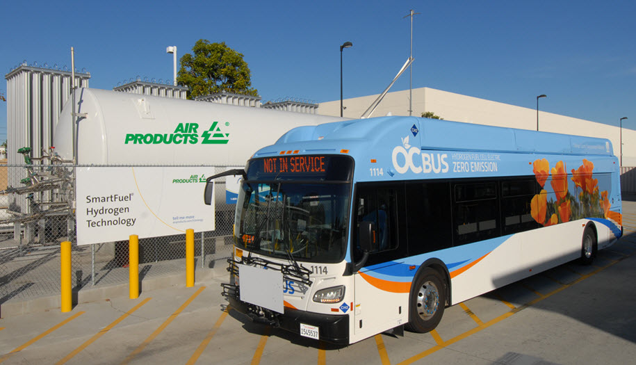 Air Products Provider for OCTA Hydrogen Fuel Cell Bus