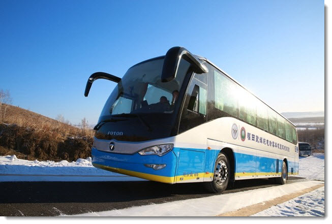 China Testing Fuel Cell Bus in Cold Conditions