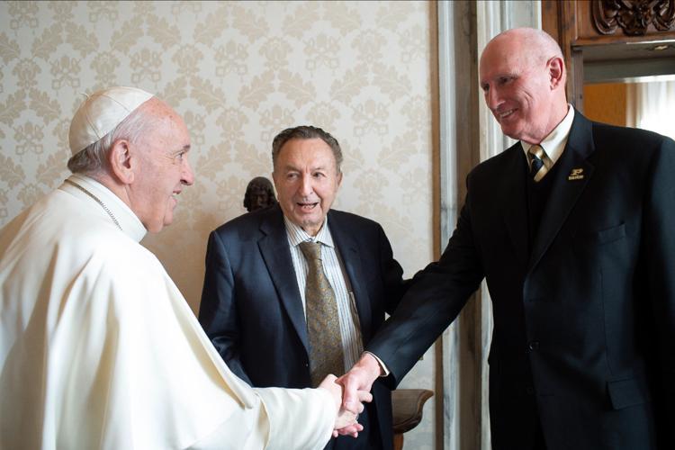 Purdue Professor Meets Pope Hydrogen
